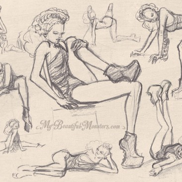 Life Drawings – Dr. Sketchys Melbourne