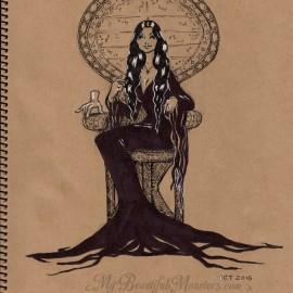 Inktober 2015 – Morticia Addams