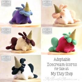 Adoptable Icecream-icorn Plush Toys
