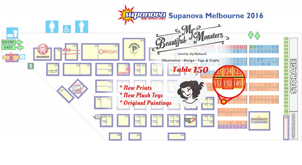 MyBeautifulMonsters_Supanova2016_Table150