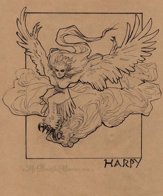 inktober2016_harpy