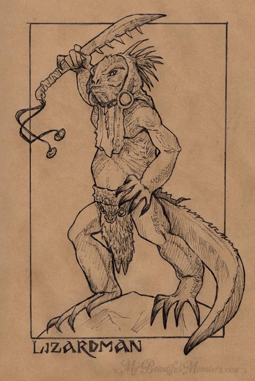 inktober2016_lizardman